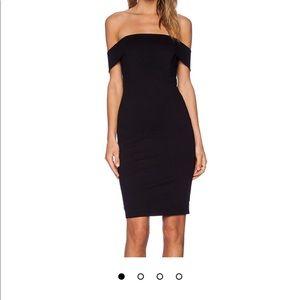 Mason Off Shoulder Dress in Black